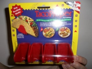 The taco poppers (holders) in the package.