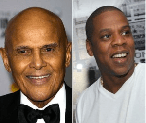 Jay Z responds to Harry Belafonte in a song on Magan Carta Holy Grail.