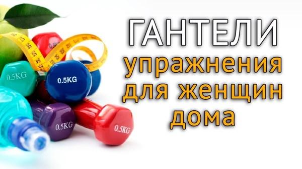 Упражнения с гантелями дома на все группы мышц для женщин ...