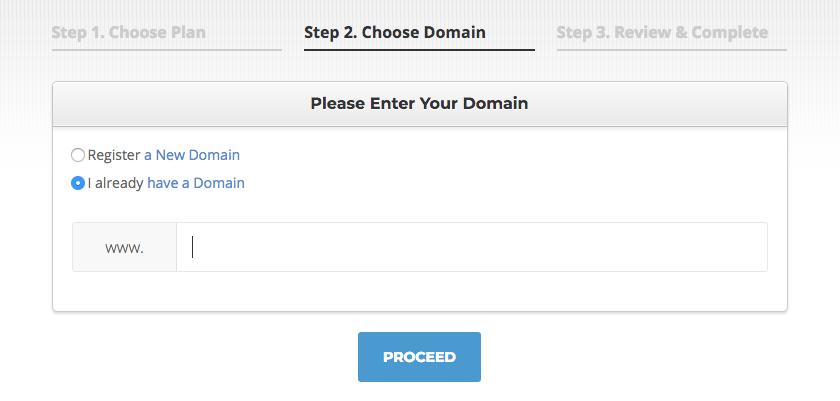 Siterground - Choose Domain