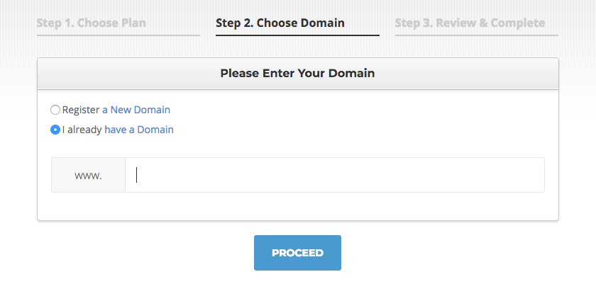Siterground - Choose Domain