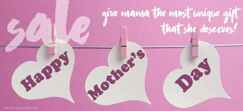 Mother's Day Sale 2017 for Precious Mammaries Breast Milk Jewelry & DNA Keepsakes