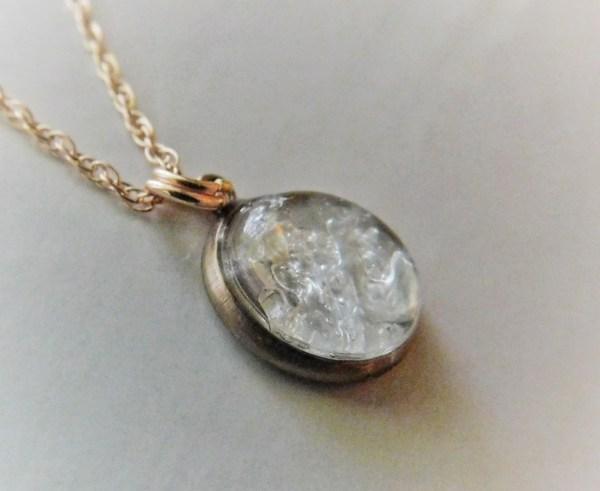 bubble necklace rose gold