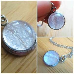 Breast milk lock of hair jewelry keepsake bubble pendant necklace