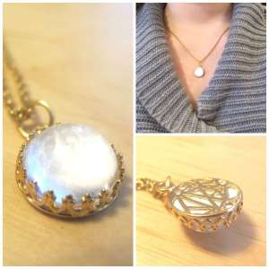 Gold Breast Milk Jewelry Necklace Crown of the Queen