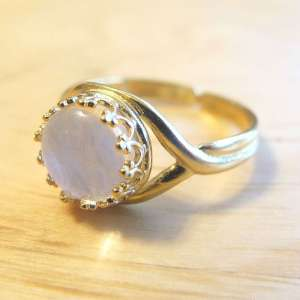 Gold Crown Breast Milk Jewelry Ring