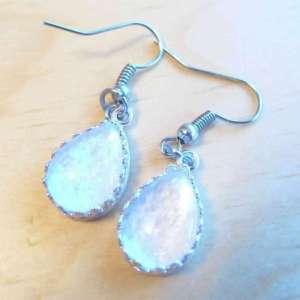 Breast Milk Jewelry Earrings - Milk Drop Crown Earrings