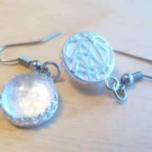 925 Sterling Silver Breast Milk Jewelry Crown Dangling Earrings w/ hypoallergenic hooks