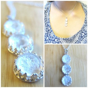 3 Way Milky Way breast milk jewelry necklace from Precious Mammaries