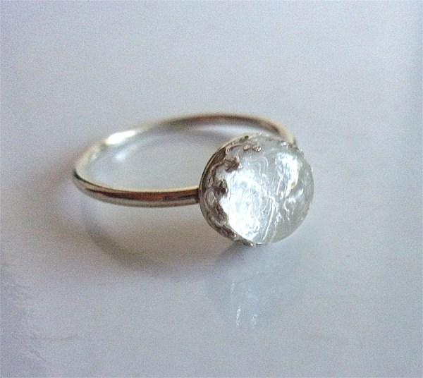 silver crown ring breast milk jewelry