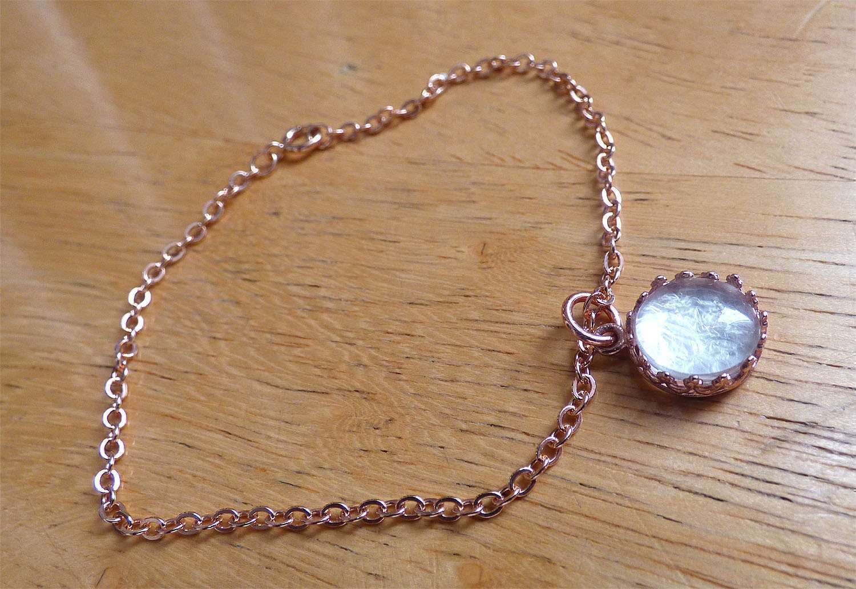 Rose Gold Red Queen Crown Necklace Bracelet SET Breast Milk