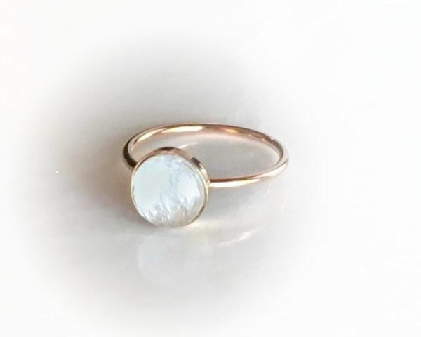 simply rose gold ring