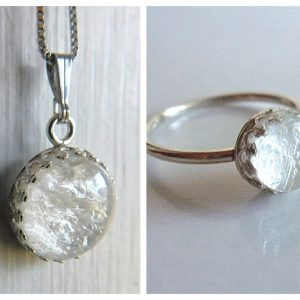 sterling silver crown necklace solid ring