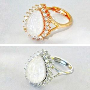 14k SOLID Gold /Vermeil- Tear Drop Moissanite Diamonds Breast Milk Ring – Breast Milk Jewelry -Silver/ Rose Gold /Gold