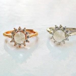 14k SOLID Gold /Vermeil- Flower Moissanite Diamonds Breast Milk Ring – Breast Milk Jewelry -Silver/ Rose Gold /Gold