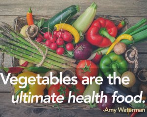Vegetables are a health food