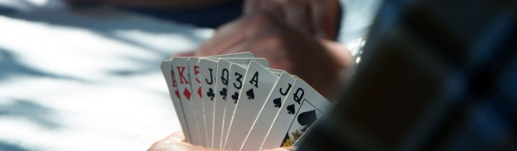 poker player hand of cards