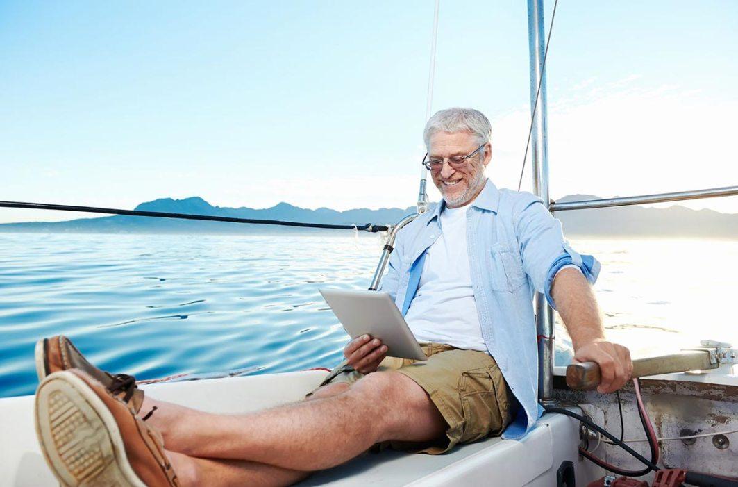 happy traveler on Medicare