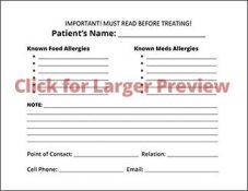 The Beneficiary Medical Condition Placard