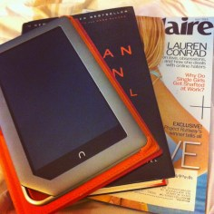 """""""Not sure if I should read a book, magazine or on my tablet."""" - says one of the girls! #firstworldproblems"""