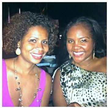 Sara and I enjoy dinner at CJ's Crab Shack on Ocean Ave.