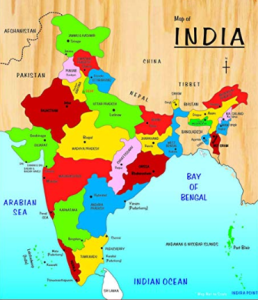 india border map