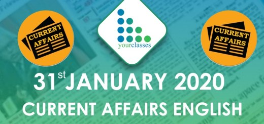 31 Jan Current affairs in English