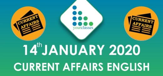 Current Affairs 14 Jan 2020 in English