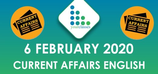 6 Feb current affairs in english
