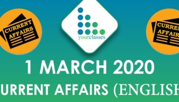 1 March Current Affair 2020 in English
