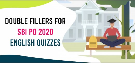 double fillers for sbi po 2020 english quiz