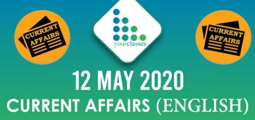 12 May, Current Affairs 2020 in English