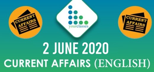 2 June Current Affairs 2020 in English
