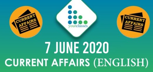7 June Current Affairs 2020 in English