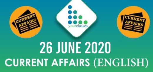 26 June Current Affairs 2020 in English