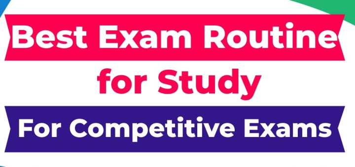 best study time table for competitive exams