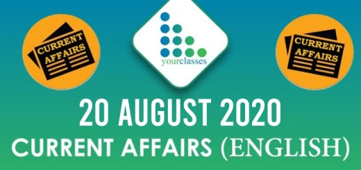 20 August 2020 Daily Current Affairs in English