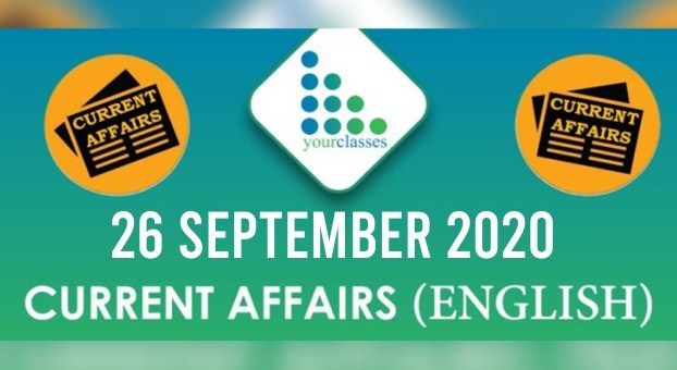 26th September 2020 Daily Current Affairs
