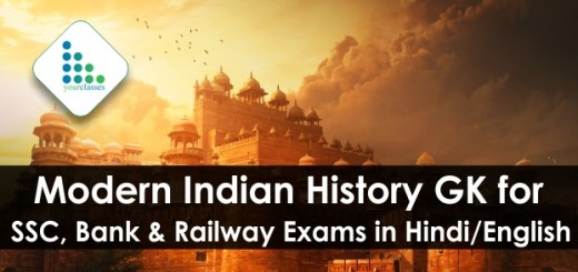 Modern Indian History GK for SSC, Bank & Railway Exams in Hindi/English