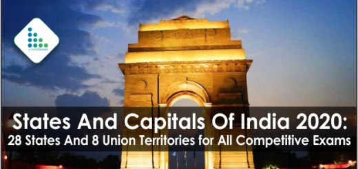 States And Capitals Of India 2020: 28 States And 8 Union Territories for All Competitive Exams