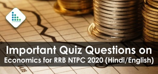 Important Quiz Questions on Economics for RRB NTPC 2020 (Hindi/English)