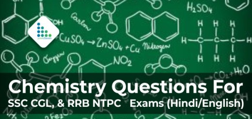 In this blog, we will discuss 10+ Chemistry Questions asked in RRB NTPC Previous Year Exam. From this section, you will get at least 9-10 quiz questions in Hindi/English. Solve daily quizzes that will help you memorize the topics. We wish you good luck with the upcoming Exams. Chemistry Quiz Part 1
