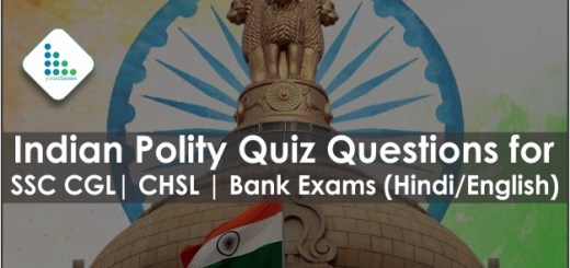Indian Polity Quiz Questions for SSC CGL| CHSL | Bank Exams (Hindi/English)