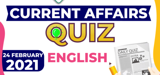 Daily Current Affairs 24 February 2021 in English