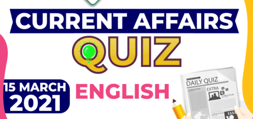Daily Current Affairs 15 March 2021 English