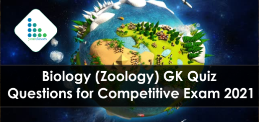 Biology (Zoology) GK Quiz Questions for Competitive Exam 2021