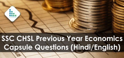SSC CHSL Previous Year Economics Capsule Questions (Hindi/English)