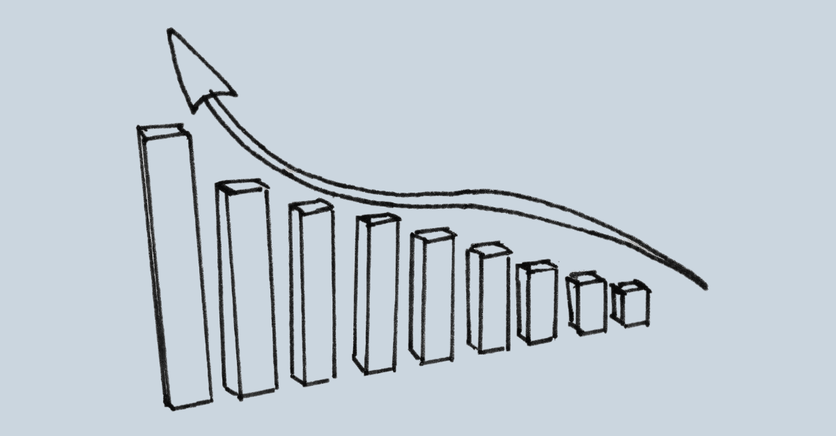 Graphical illustration of how an interior design business may grow