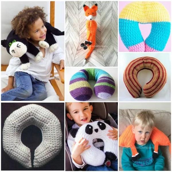 kids neck travel pillow free crochet