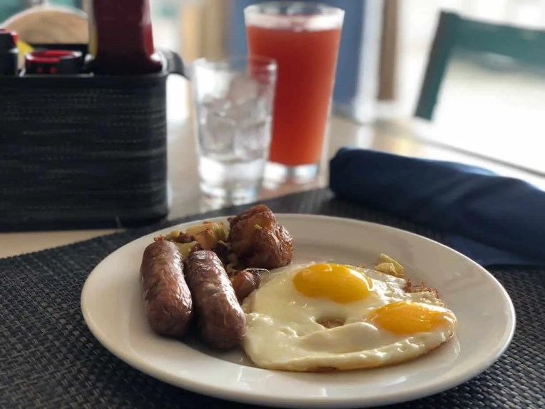 Photo of breakfast at the Catch Grill